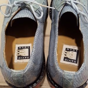 David Eden Shoes - Men David Eden lizard and Crocodile 9M Powder Blue